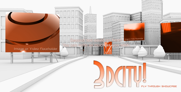 After Effects Project - VideoHive 3D City animation Fly Through Showcase 86446