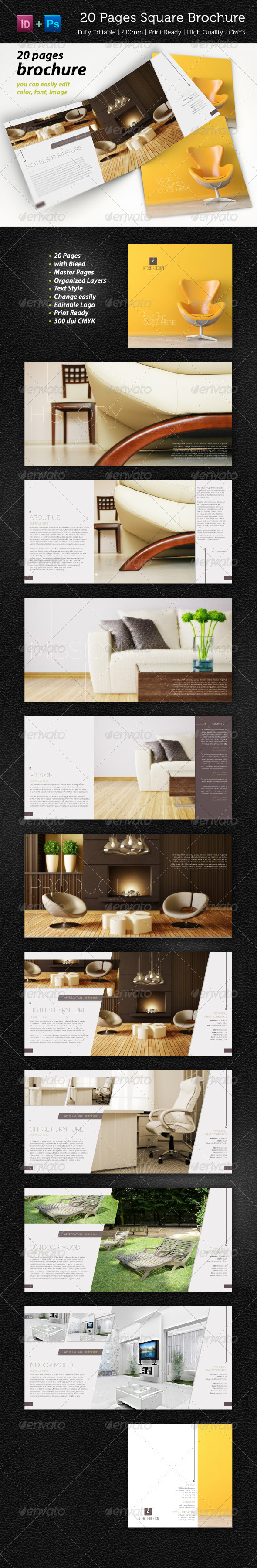 20 Pages Square Brochure Vol. 1 - Corporate Brochures