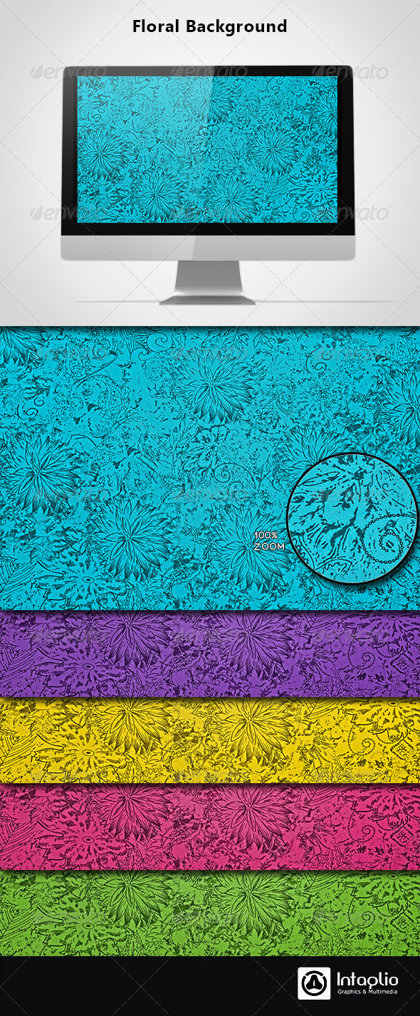 Floral Background 07 - Patterns Backgrounds