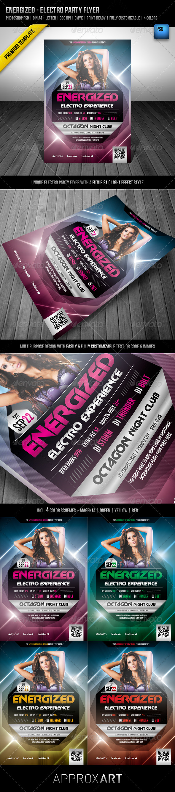 Energized - Electro Party Flyer - Clubs &amp; Parties Events