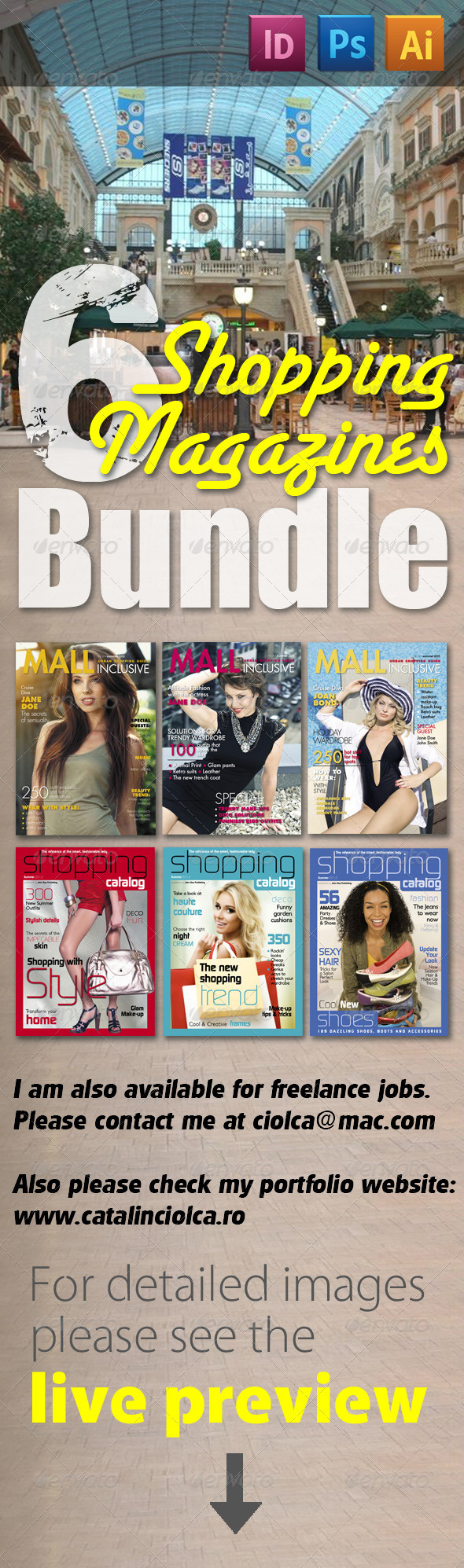 6 Shopping Magazines Bundle - Magazines Print Templates