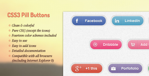 CodeCanyon CSS3 Pill Buttons 2348339