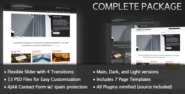 Complete Package HTML Template for Your Business
