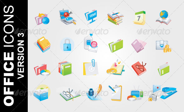 Office Icons Ver. 3 - Business Icons