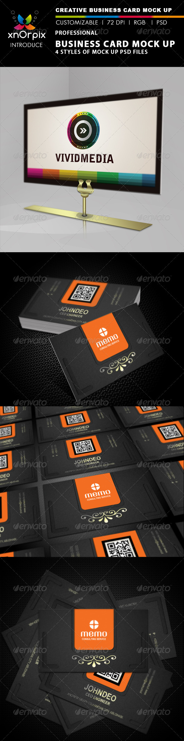GraphicRiver Professional Business Card Mock-up 2335390
