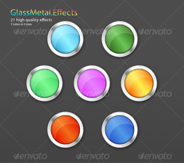 GraphicRiver 21 Glass-Metal Shape effects 85132