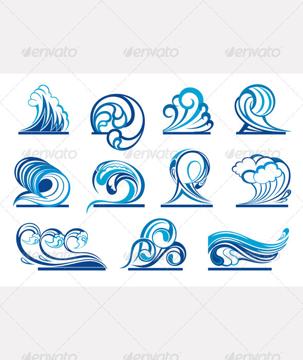 GraphicRiver Wave Symbols 2353051