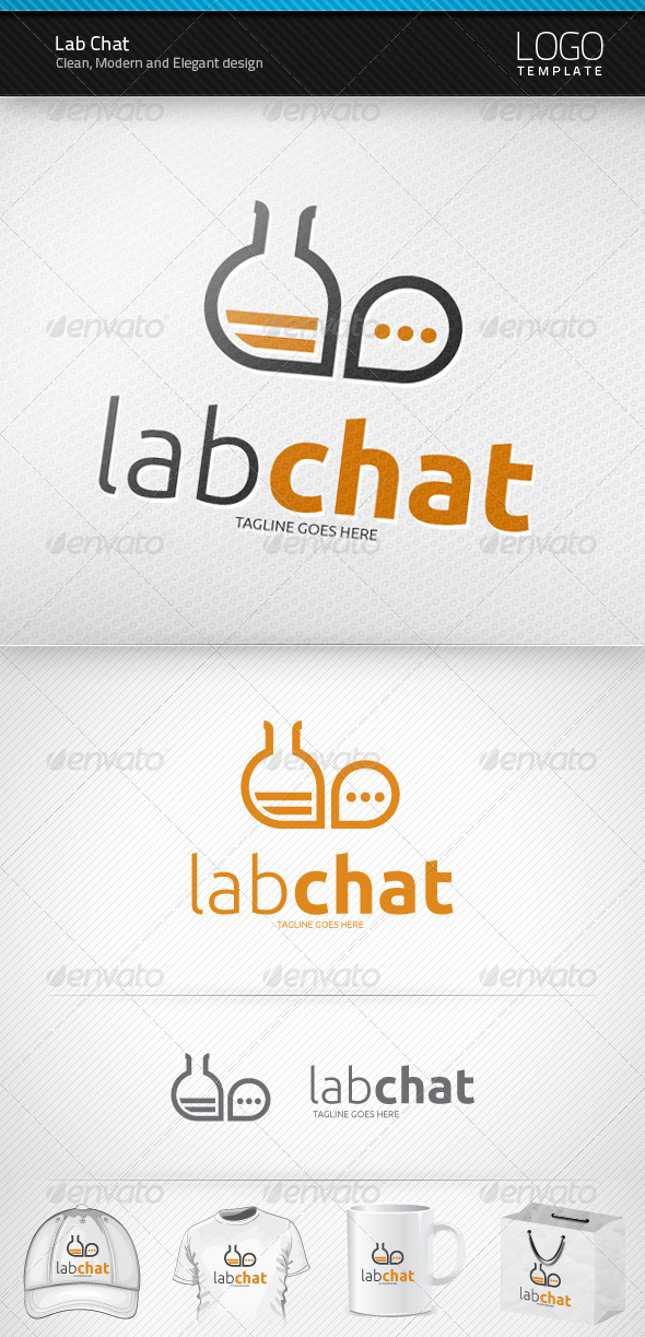 Lab Chat Logo - Symbols Logo Templates
