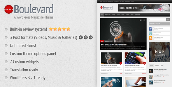 Boulevard - A WordPress Magazine Theme