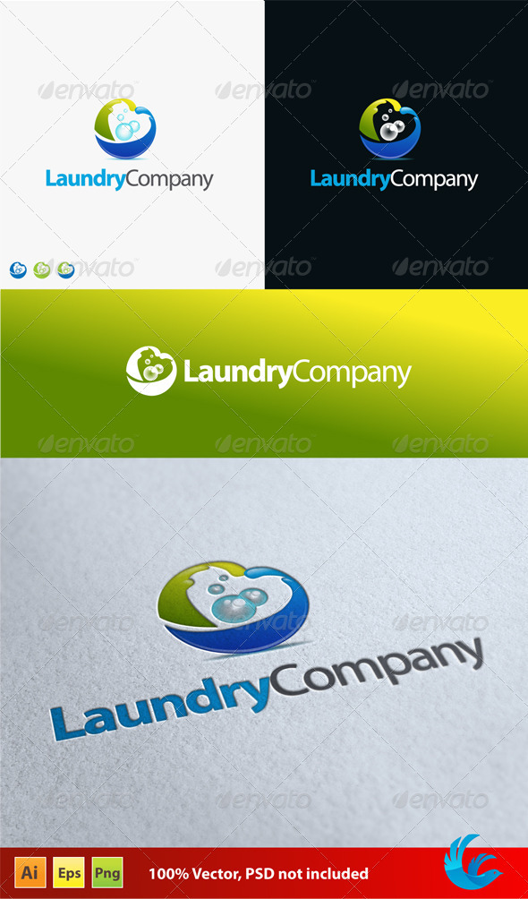 Laundry Company - Vector Abstract
