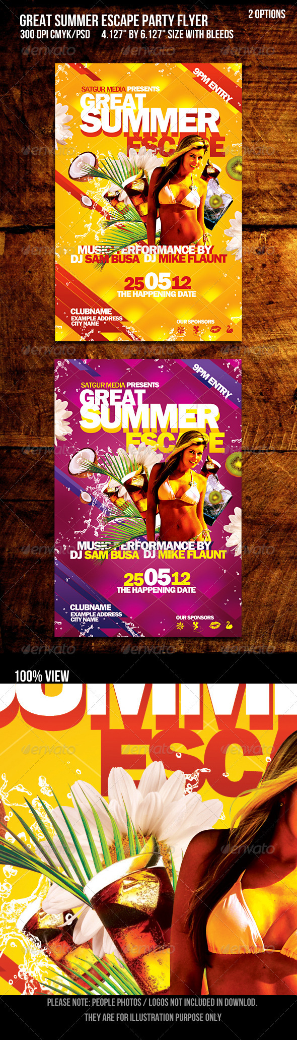Great Summer Escape Beach /summer Party Flyer - Events Flyers
