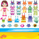 Paper doll with summer set of clothes - GraphicRiver Item for Sale