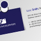 Blue Gray Business Card - GraphicRiver Item for Sale