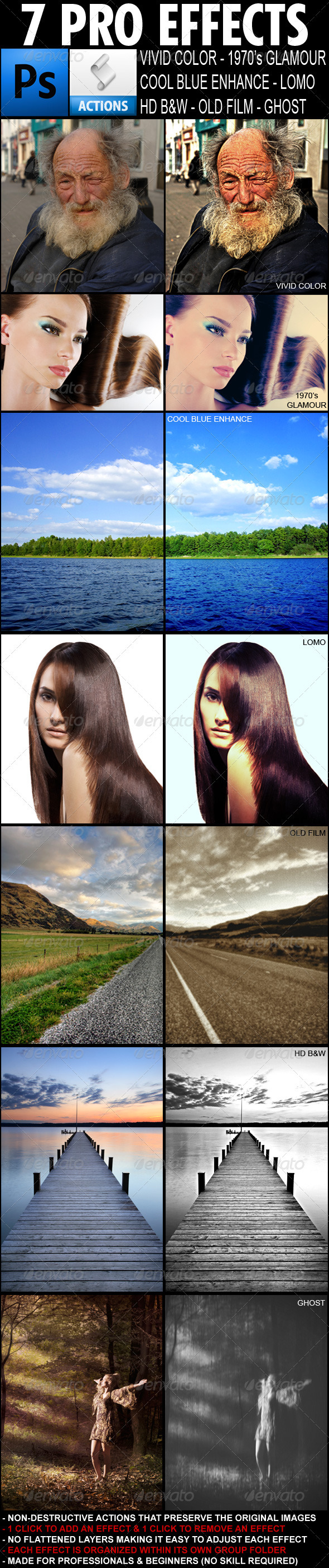 7 Pro Photo Effects - Photo Effects Actions