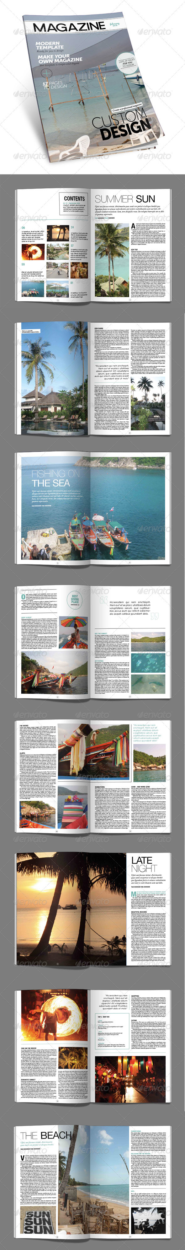 Blue Monkey Media - Magazine Template - Magazines Print Templates