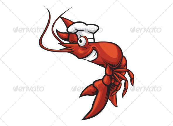 chef prawn - Animals Characters