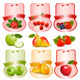 Set of Labels with Berries and Fruit Vector - GraphicRiver Item for Sale