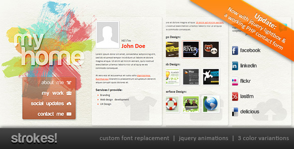 Strokes! Personal Website Template