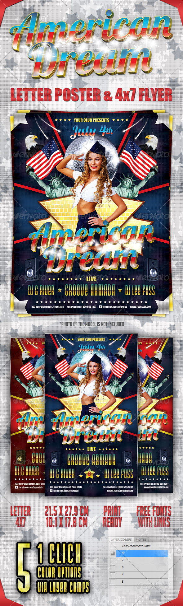 GraphicRiver American Dream Party Poster and Flyer 2342706