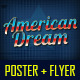 American Dream Party Poster and Flyer - GraphicRiver Item for Sale