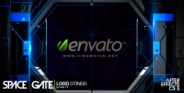 After Effects Project - VideoHive Space Gate Logo Sting 2363892