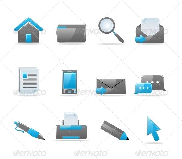 GraphicRiver Glossy icon set 85108
