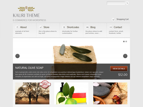 Kauri - responsive theme for WP e-Commerce