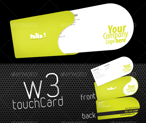 W3 Touch Card - Creative Business Cards