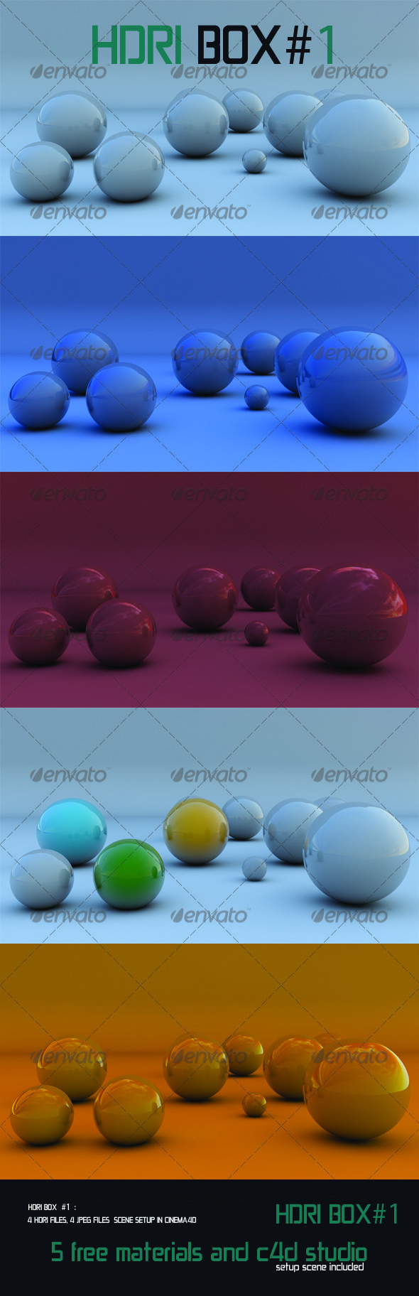 HDRI Box # 1 - 4 HDRIS   - 3DOcean Item for Sale