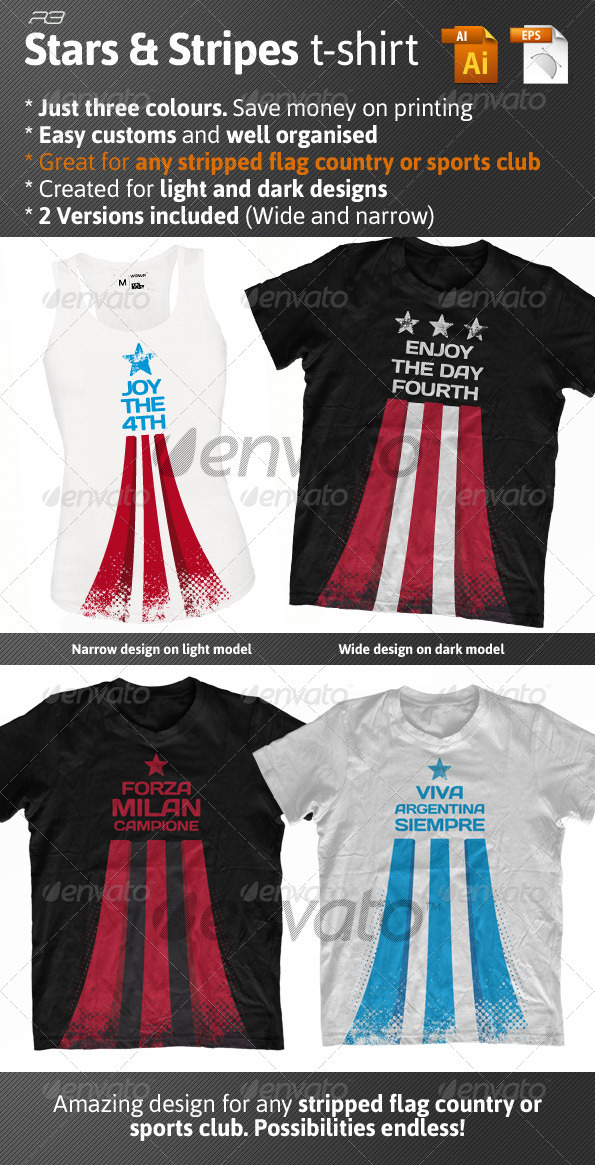 Stars and stripes t-shirt - Events T-Shirts