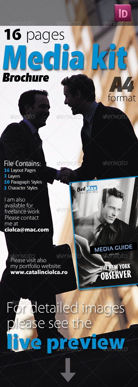 16 Pages Media Kit Brochure - Corporate Brochures
