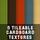 5 Tileable Cardboard Textures - GraphicRiver Item for Sale