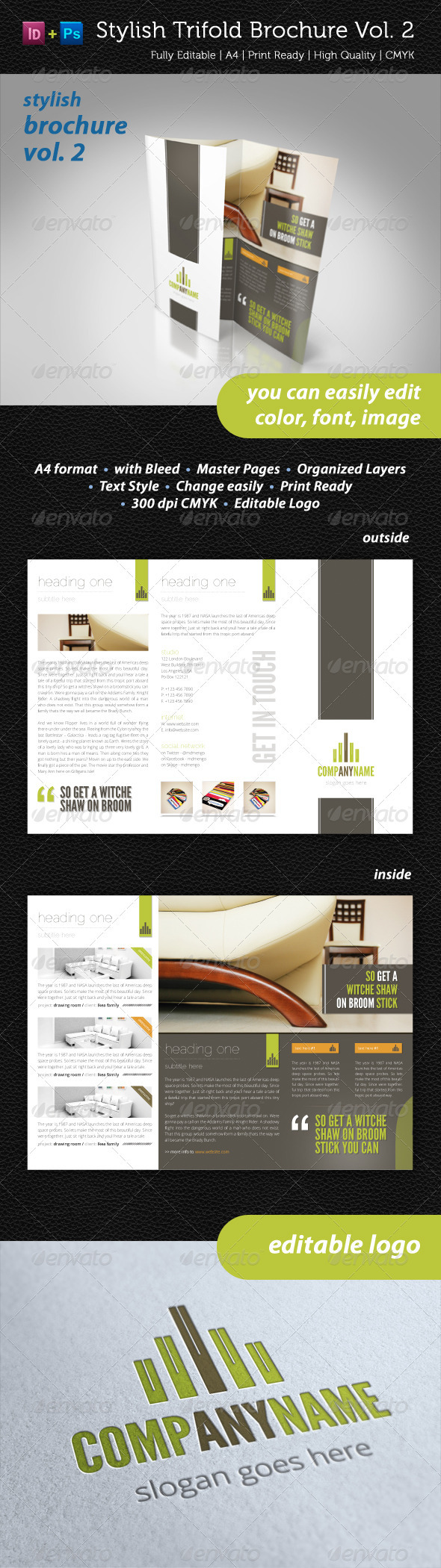 GraphicRiver Stylish Trifold Brochure Vol 2 2370972