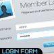 Sleek Login Forms - GraphicRiver Item for Sale
