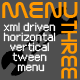 MenuThree - XML driven horizontal/vertical tween   - ActiveDen Item for Sale