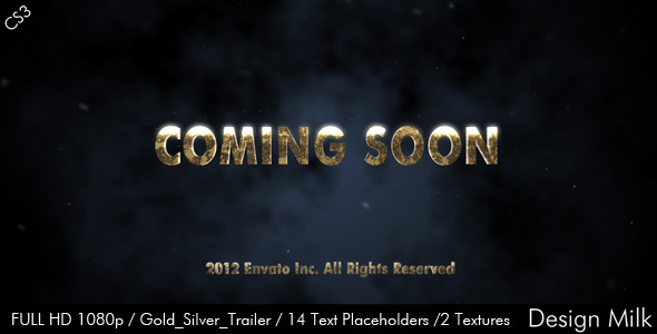 VideoHive Gold Silver Cinematic Trailer 2372636