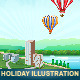 Holiday Theme Illustrations  - GraphicRiver Item for Sale