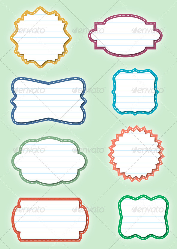 Paper Frames - Decorative Symbols Decorative