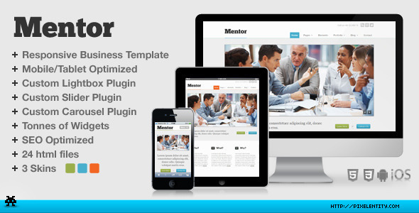 Mentor Premium Responsive Business HTML5 Template - Corporate Site Templates