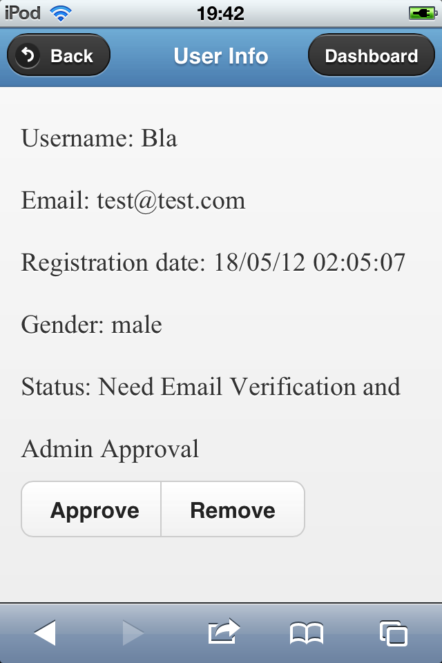 Register/Sign In Mobile Form