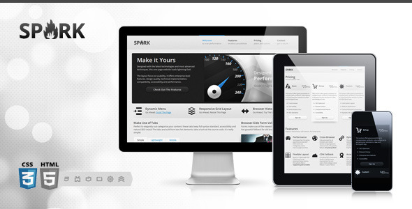 Spark Responsive & Retina One-Page WordPress Theme