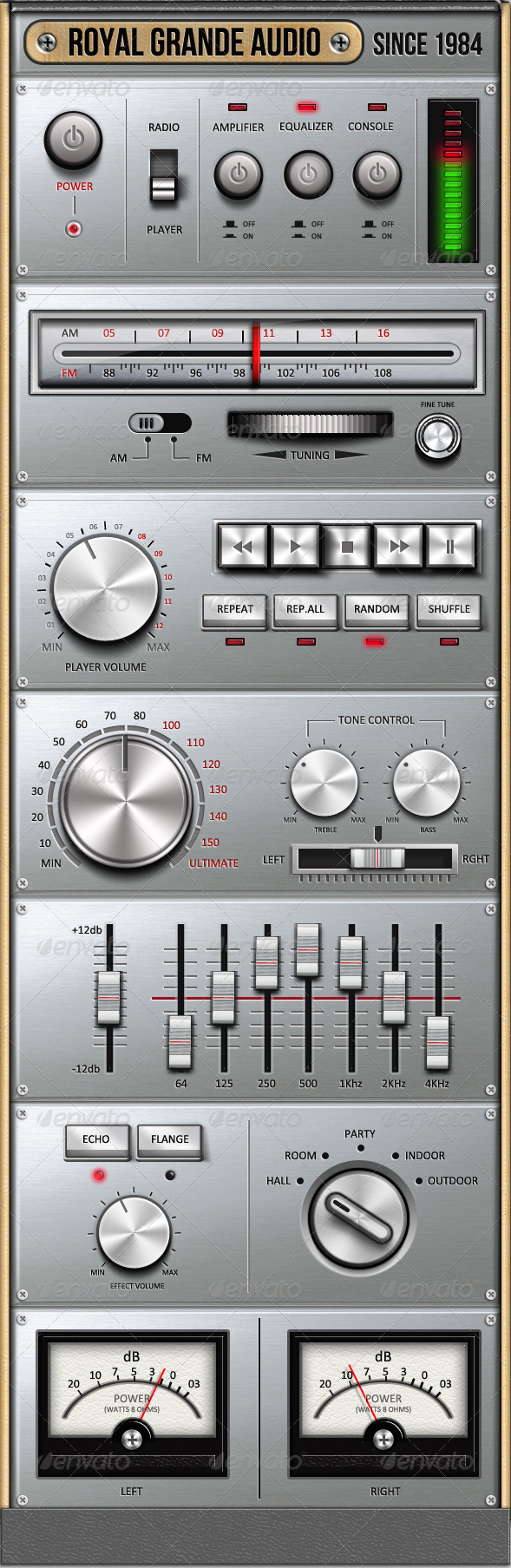 Royal Grande Very Old Audio Set UI - User Interfaces Web Elements