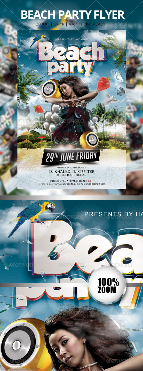 Beach Party Flyer Vol_9 - Events Flyers