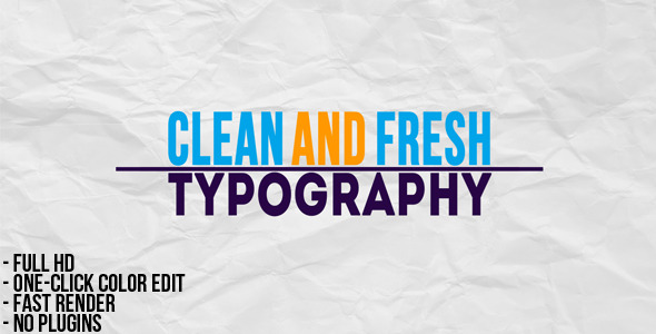 VideoHive Typographic Presentation 2380098