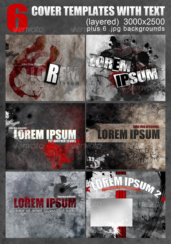 GraphicRiver 6 layered Covers with editable text 87882