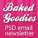 Baked Goodies Email Newsletter PSD Template - GraphicRiver Item for Sale