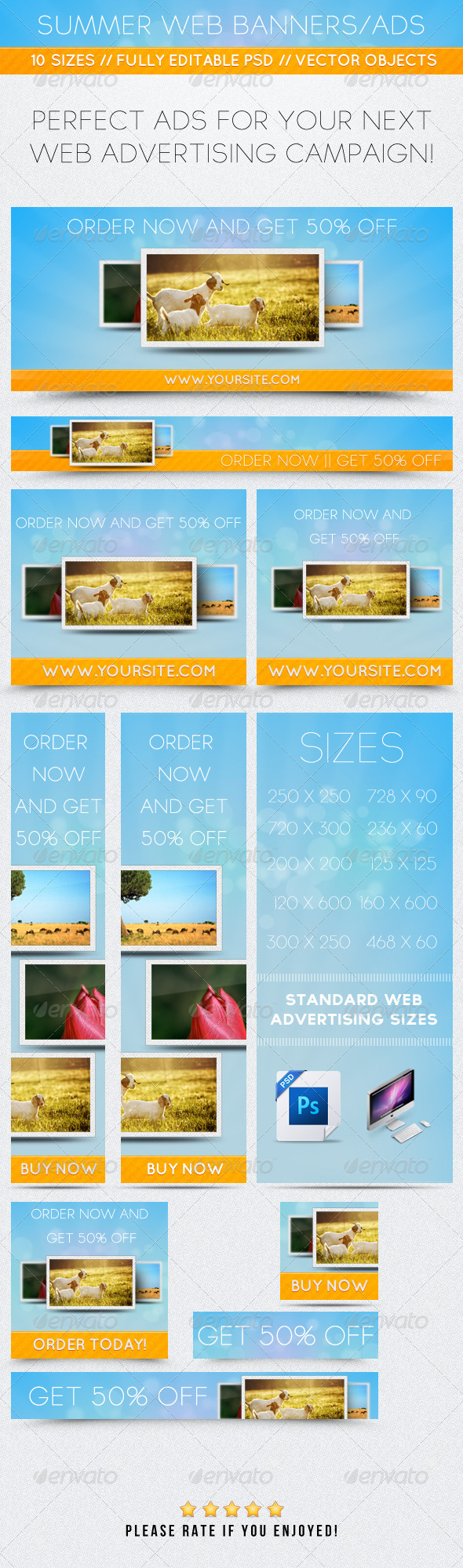 GraphicRiver Summer Web Banners Ads 2381119