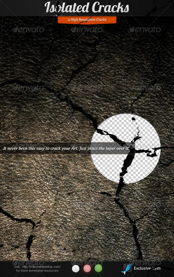 Isolated Cracks - Decorative Graphics