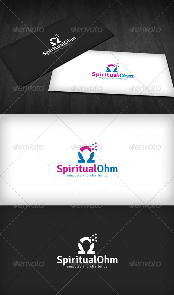 Spiritual Ohm Logo - Vector Abstract