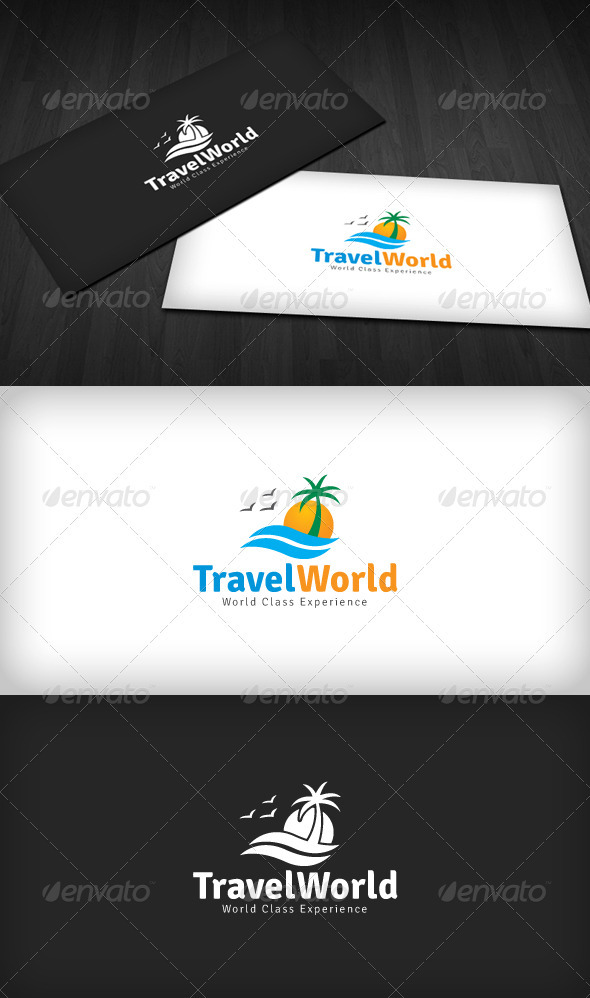 Travel World Logo - Nature Logo Templates
